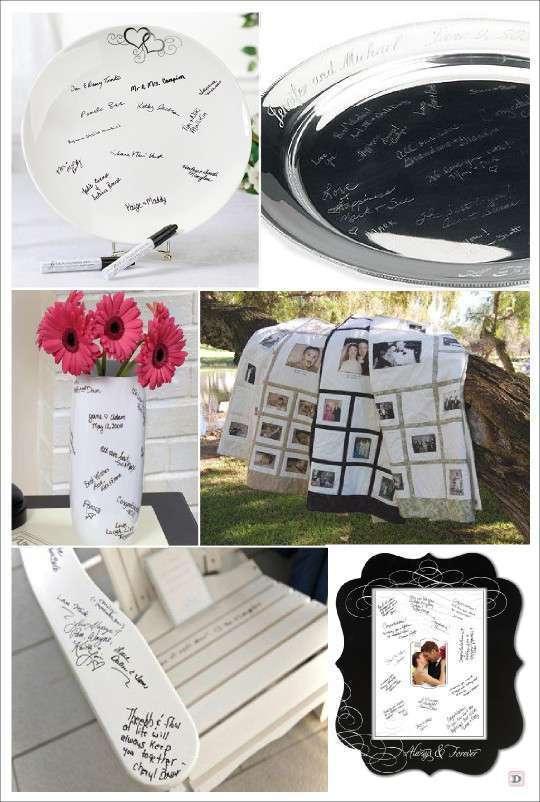 livre d'or mariage original couverture assiette siège chaise cadre vase tableau