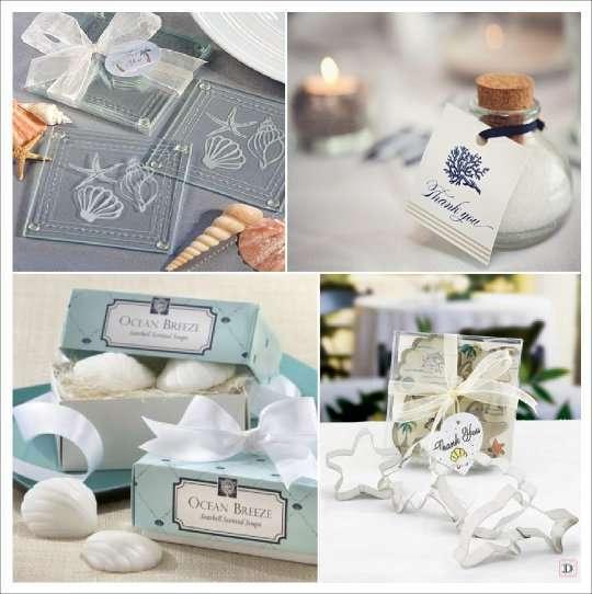 decoration mariage mer cadeaux dessous verre sel savon emporte piece