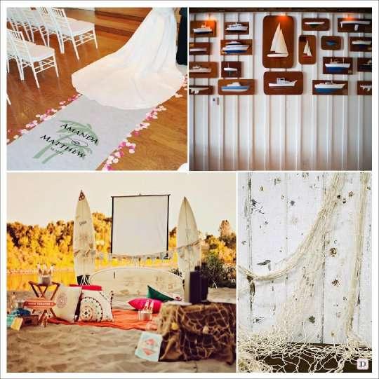 decoration mariage mer salle tapis