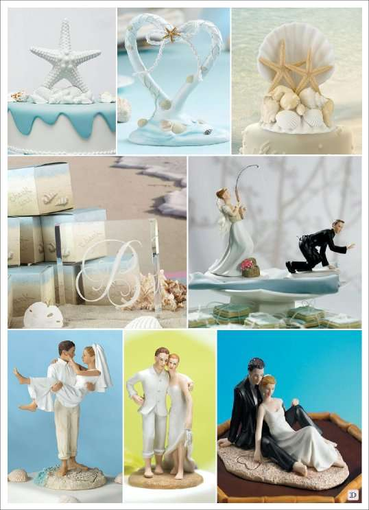 Decoration Mariage Mer Figurine Gateau Piece Montee Pictures