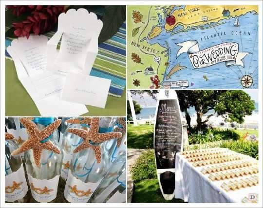 decoration mariage mer menu transat carte geographique bouteille ardoise