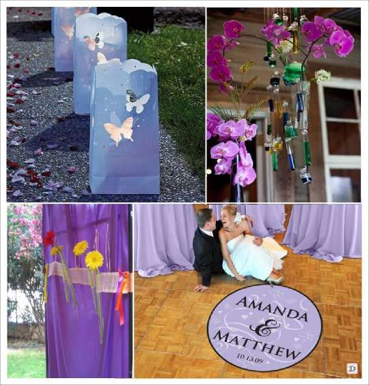 decoration mariage papillon decoration de sol stickers lanterne