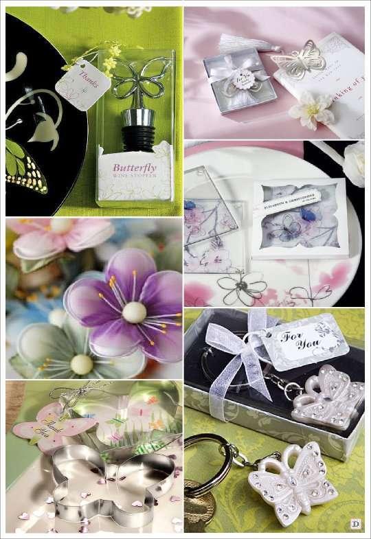 decoration mariage papillon cadeau sous verre moule bouchon