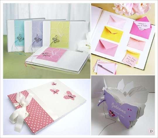decoration mariage papillon livre d'or enveloppe