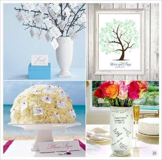 decoration mariage papillon livre d'or bouquet  vase signature arbre à empreinte