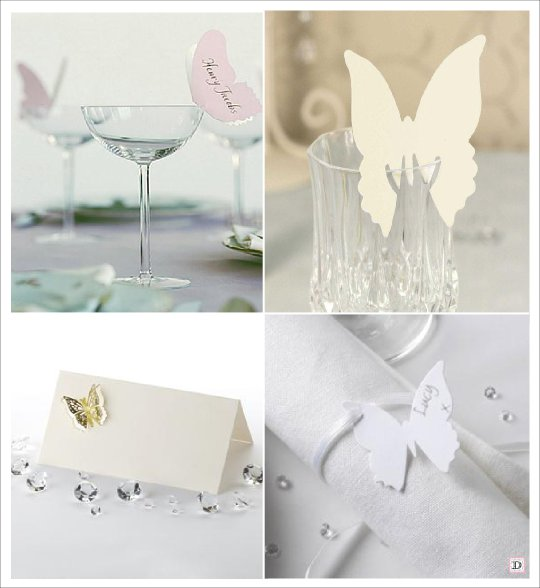 Mariage theme papillons idees - Porte nom de table a faire soi meme ...