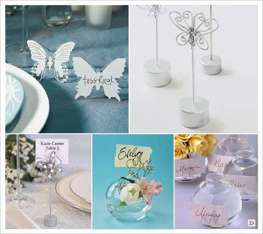 mariage papillon marque place fil de fer vase boule