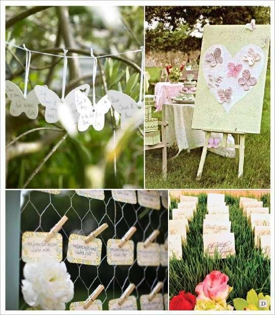 mariage papillon plan de table