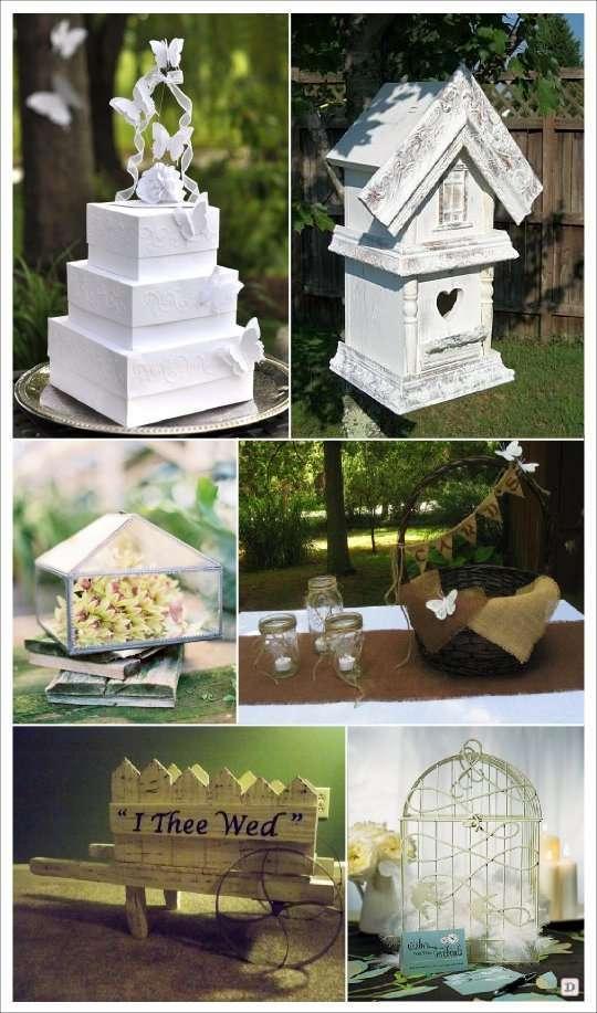 mariage papillon urne tirelire nichoir brouette cage - Urne Mariage Champetre
