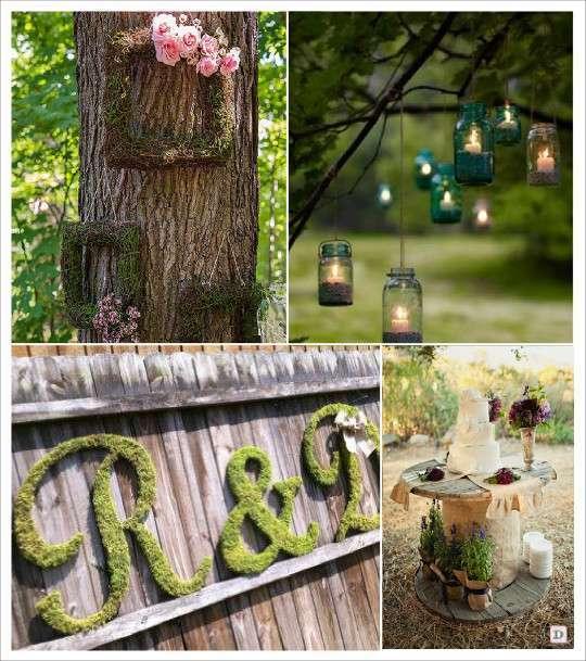 decoration mariage rustique vive le bois. Black Bedroom Furniture Sets. Home Design Ideas