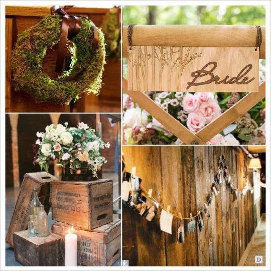 Decoration mariage rustique vive le bois - Decoration caisse en bois ...