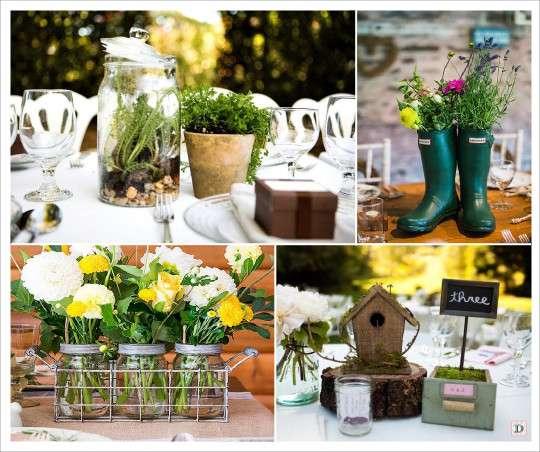 decoration mariage rustique -> Table Avec Des Cagette