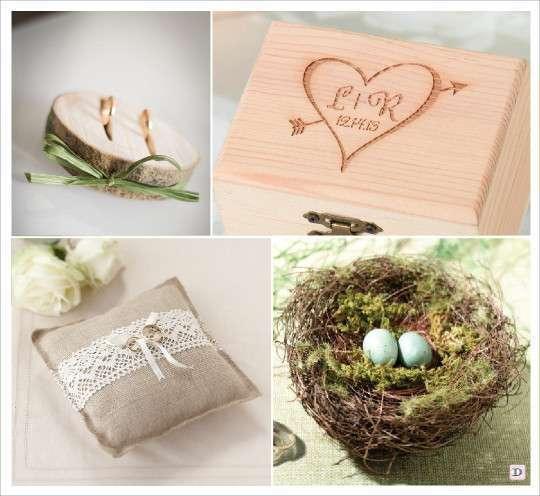 mariage rustique champêtre porte alliances rondin de bois coffre en ...