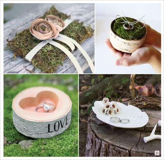 Decoration mariage rustique - Support alliances mariage ...