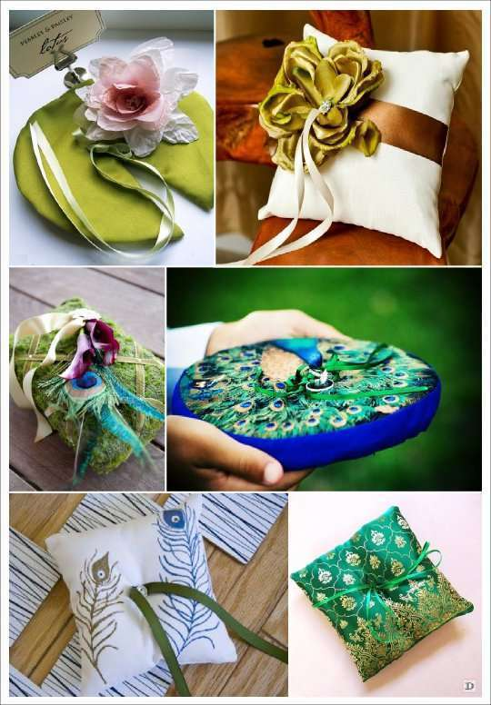 mariage_oriental_coussin_porte_alliances_plume_paon_lotus_nenuphar_marocain