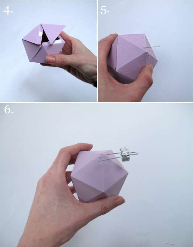 tutoriel diy boule hexagonale