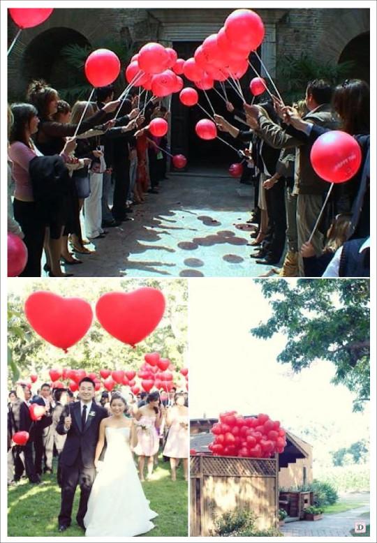 idees ballons sortie eglise ballon coeur lacher ballon mariage
