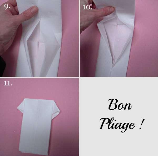 tutoriel pliage serviette manteau chemise. Black Bedroom Furniture Sets. Home Design Ideas