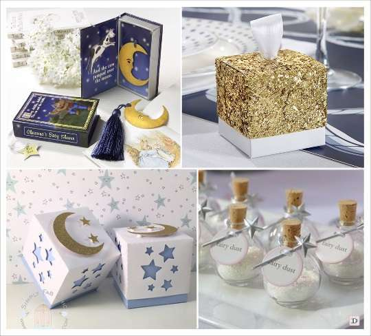 decoration mariage etoile boite dragees glitter cadeauinvites marque page fiole en verre