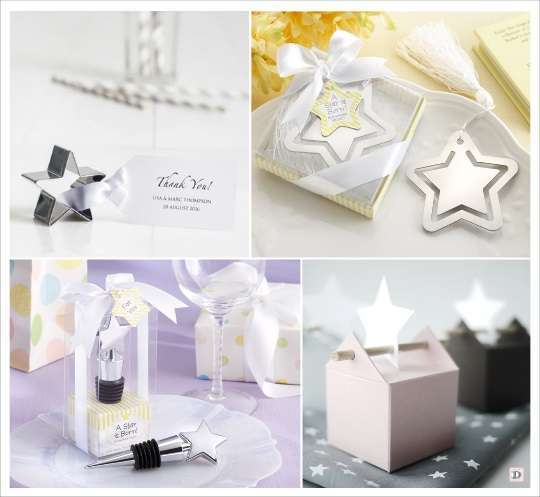 decoration mariage etoile cadeaux invtés bouchon stopper marque page emporte pièce