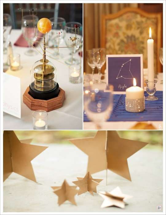 decoration table mariage étoile instrument etoile 3d