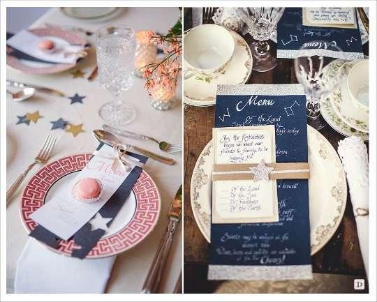 decoration mariage etoile menu carte