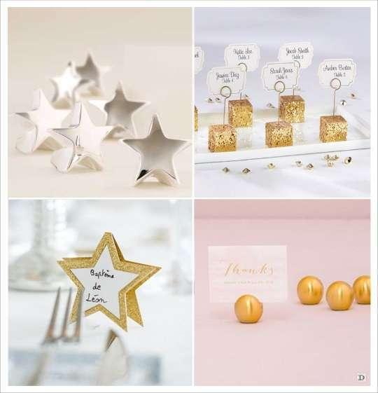 decoration mariage étoile porte nom marque place glitter