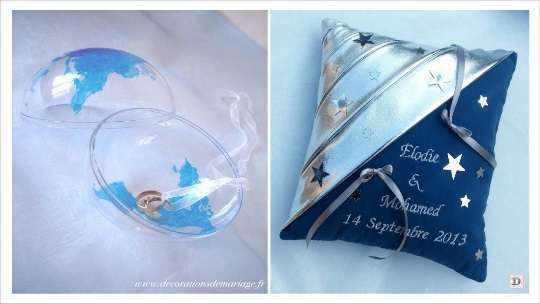 decoration mariage etoile porte alliances globe boule plexiglas