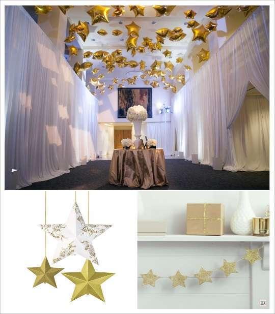 decoration mariage ballons étoile lune guirlande