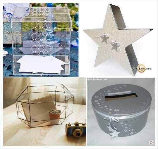 decoration mariage etoile urne cube plexiglas papier mache terrarium