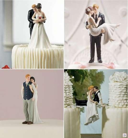 figurine piece montee romantique enlace mariee portee par le marie tête à tête