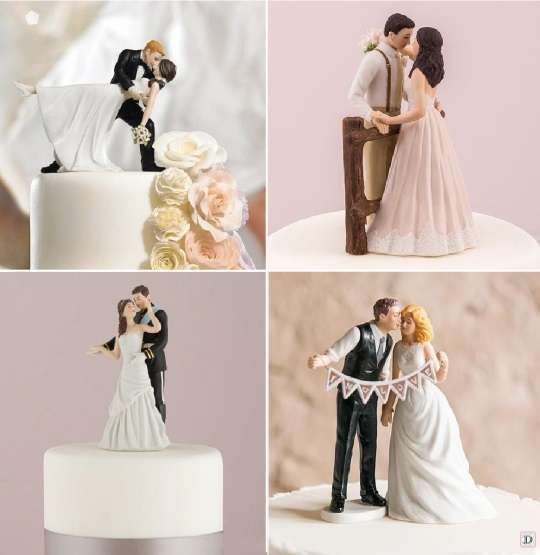 figurine mariage romantique danse vintage guirlande de fanions princesse