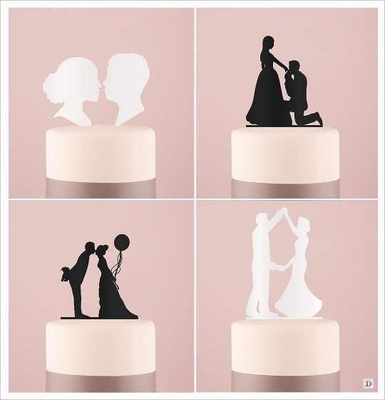 Pin Une Figurine Décorative De Gâteau Mariage Dun Marié Et Dune ...