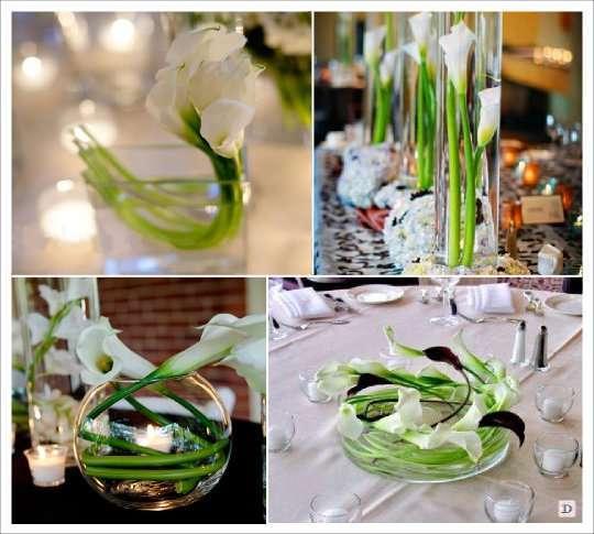 Decoration de salle de mariage avec des fleurs Centre de table mariage fleurs