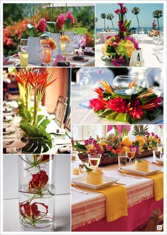 Fleurs mariage lesquelles choisir Centre table mariage plage idees