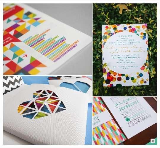 decoration mariage geometrie motifs symetriques