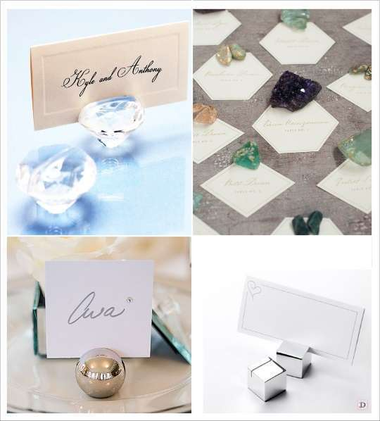 decoration mariage geometrie marque place diamant pierre precieuse boule cube en metal