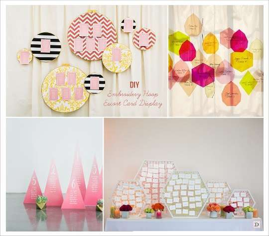 decoration mariage geometrie plan de table escort card plexiglas support hexagone pancarte de table pyramide