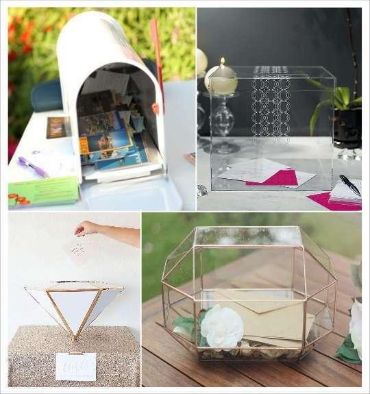 decoration mariage geometrie urne mariage boite aux lettres urne cube plexiglas terrarium polygone diamant