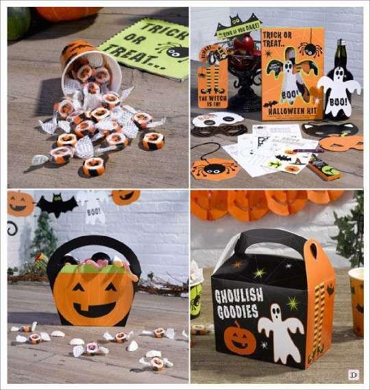 decoration halloween goodie bag lunch box bonbons