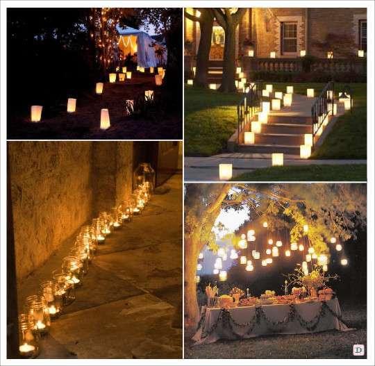 Decoration salle mariage lumiere illumination - Salle de jardin exterieur ...