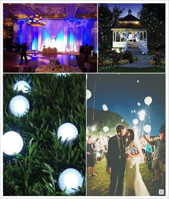 Decoration salle mariage lumiere illumination for Illumination exterieur
