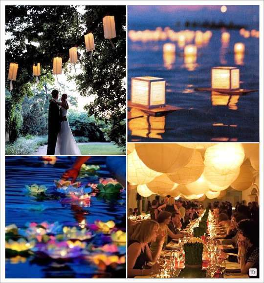decoration_salle_mariage_lampion_lanterne_en papier_sac_photophore verre_suspendu