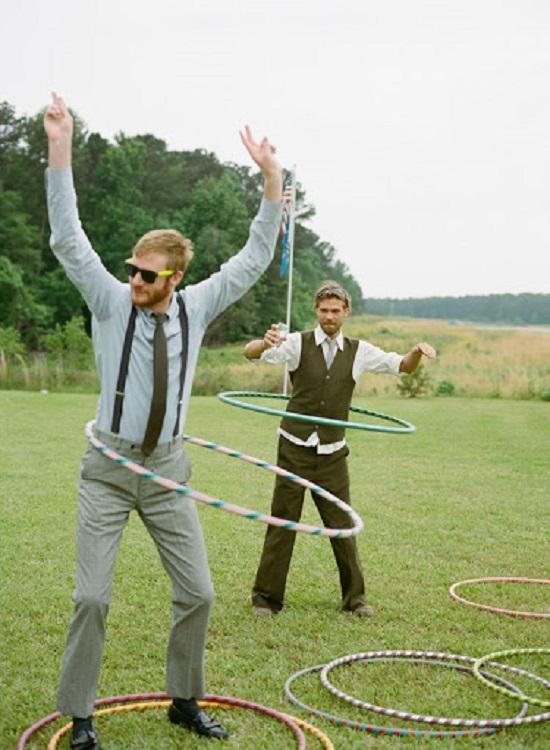 jeu mariage exterieur hula hoop