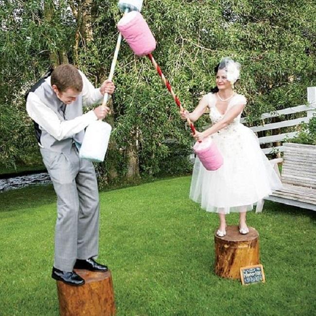 jeu de joute plein air mariage