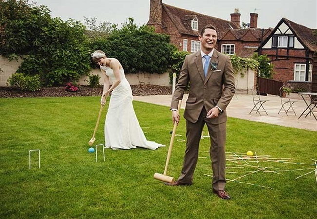 jeu mariage plein air croquet