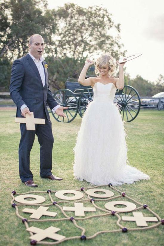 jeu du morpion geant mariage exterieur