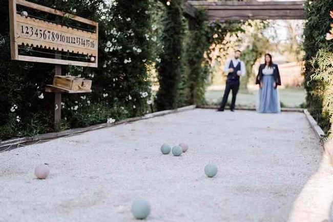 jeu petanque mariage extérieur