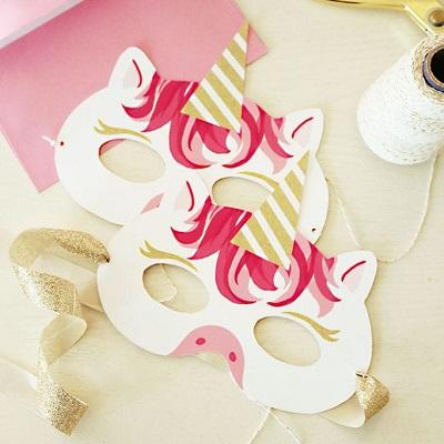 animation anniversaire licorne masque