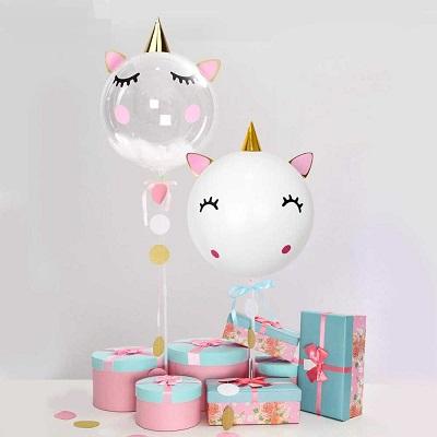 ballon tete de licorne deco anniversaire